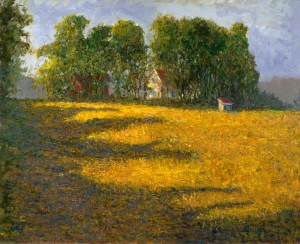 Bowmans Wheat Field oil 16x20 plein air Avon, Indiana