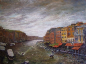 History Channel oil 30x40 Venice, Italy