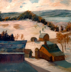 Michgan Winter oil 24x24 Michigan