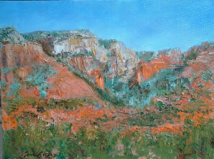 Sedona Diversity oil 16x20 plrin air Arizona