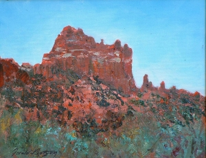 Sedona Eye Catcher oil 16x20 plein air Sedona, AZ