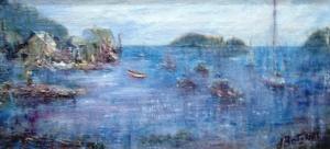 Tenats Harbor Calling oil 10x15 plein air Tenants Harbor, Ma