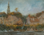 Another Day in France oil 14x18 plein air Monmelion City, Fr