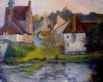 French Motif oil  20x24 Loire Valley, France