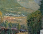 Meijas View oil 14x11 plein air Meijas, Spain
