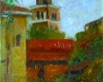 Never on Sunday oil 8x10 plein air Burano, Ital