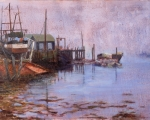 The Arrival, oil 24x36 Tenants Harbor, Maine
