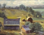 barns of the midwest oil 16x20 Michigan